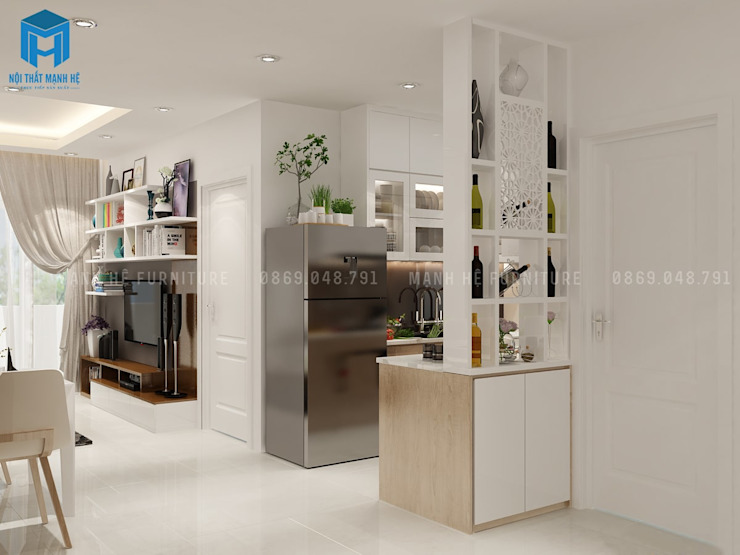 Phòng khách thiết kế theo phong cách hiện đại bởi Công ty TNHH Nội Thất Mạnh Hệ Hiện đại