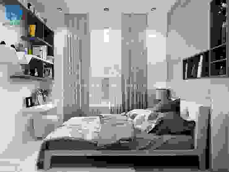 Không gian phòng ngủ khá rộng rãi và thoáng đãng Phòng ngủ phong cách hiện đại bởi Công ty TNHH Nội Thất Mạnh Hệ Hiện đại