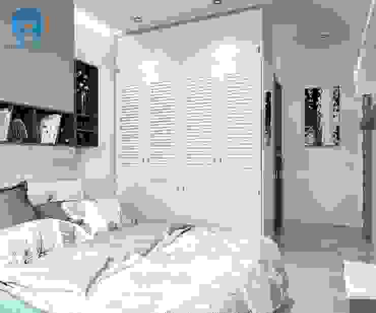 Tủ quần áo từ tỗ gỗ MFC Melamine An Cường chống ẩm Phòng ngủ phong cách hiện đại bởi Công ty TNHH Nội Thất Mạnh Hệ Hiện đại