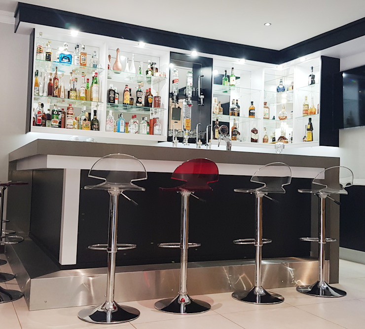 Front of bar by ilisi Interior Architectural Design Modern MDF