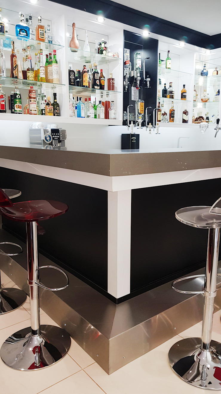 ​Modern trim of the ilsand of the bar by ilisi Interior Architectural Design Modern Concrete
