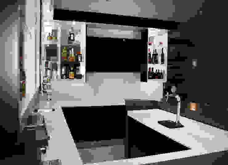 Modern trim of the ilsand of the bar by ilisi Interior Architectural Design Modern Quartz