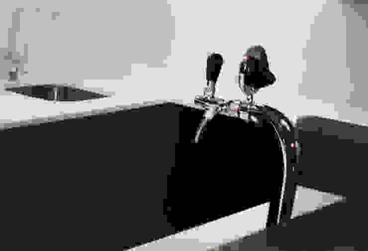 Beer tap on island by ilisi Interior Architectural Design Modern Aluminium/Zinc