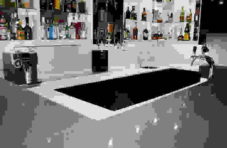 Grey, White & Black Bar colour scheme by ilisi Interior Architectural Design Modern Quartz