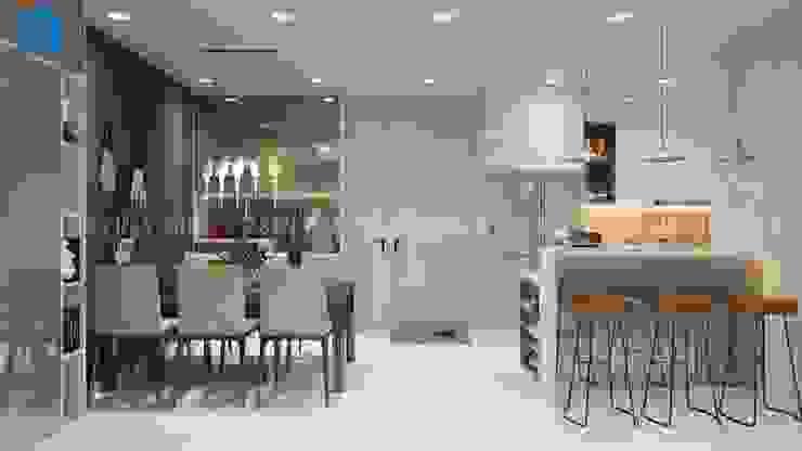 Không gian phòng bếp hiện đại và sang chảnh Phòng ăn phong cách hiện đại bởi Công ty TNHH Nội Thất Mạnh Hệ Hiện đại