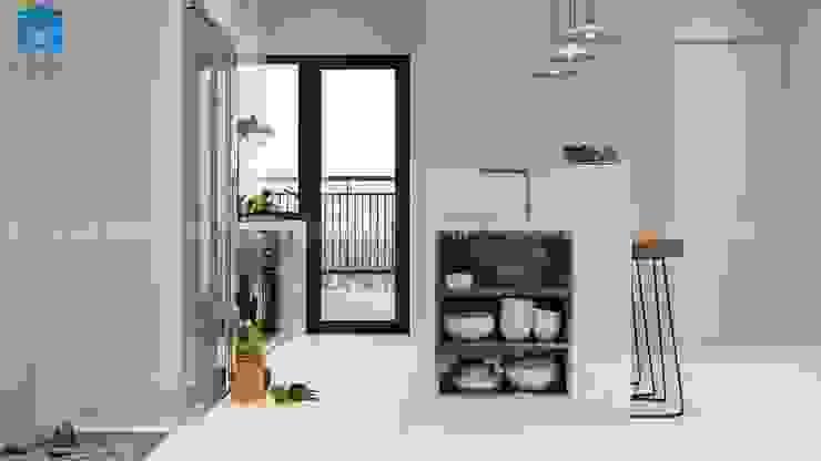 THIẾT KẾ CĂN HỘ HIỆN ĐẠI DRAGON HILL 2 - 71M2 CHO ANH THIÊN Phòng ăn phong cách hiện đại bởi Công ty TNHH Nội Thất Mạnh Hệ Hiện đại