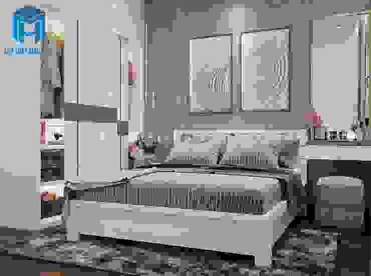 Nội thất phòng ngủ sang trọng và hiện đại Phòng ngủ phong cách hiện đại bởi Công ty TNHH Nội Thất Mạnh Hệ Hiện đại