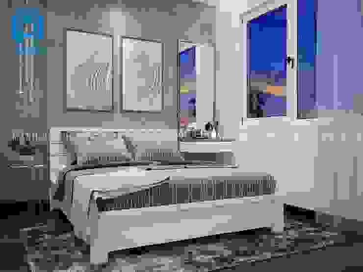 Phòng ngủ được trang trí bằng tranh Phòng ngủ phong cách hiện đại bởi Công ty TNHH Nội Thất Mạnh Hệ Hiện đại