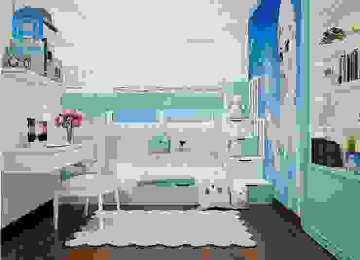 Tổng quan phòng ngủ nhỏ cho bé bởi Công ty TNHH Nội Thất Mạnh Hệ Hiện đại