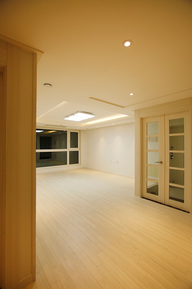 광장동 워커힐팰리스 40py 거실 모던스타일 거실 by Design Daroom 디자인다룸 모던