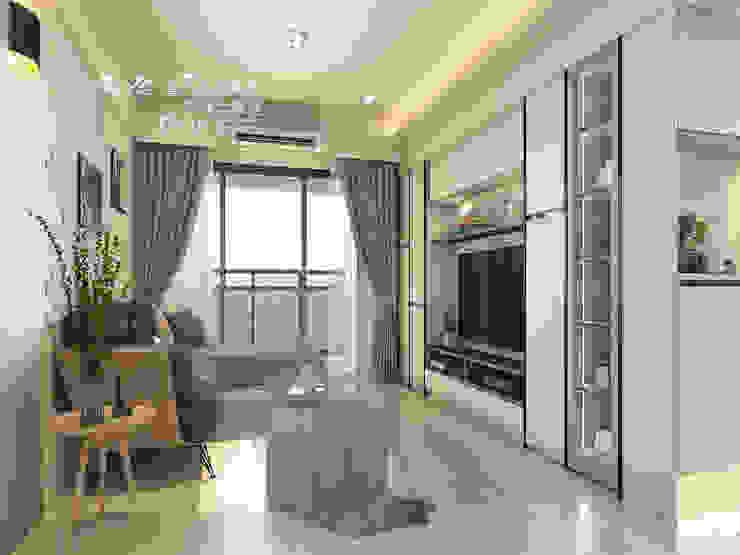 系統家具搭配鐵件 玩轉出時尚機能宅 Modern Living Room by 木博士團隊/動念室內設計制作 Modern