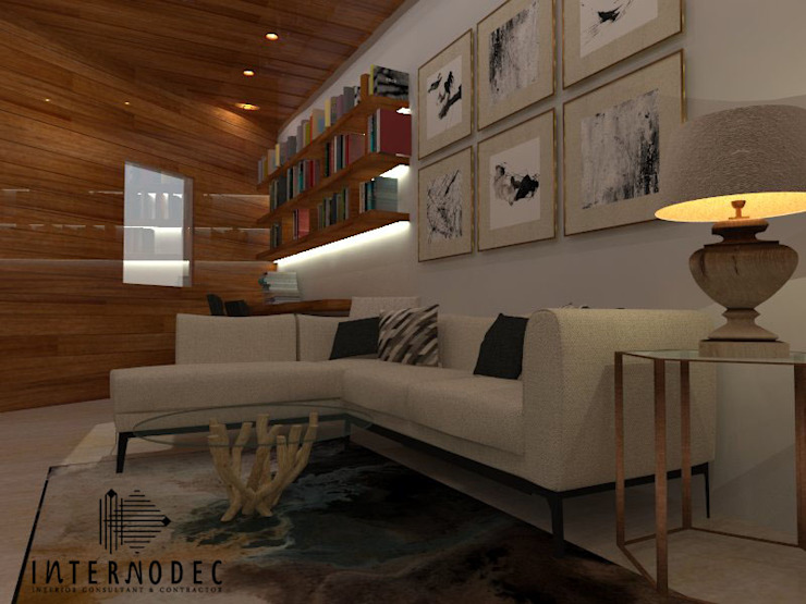 Living room by Internodec, Modern