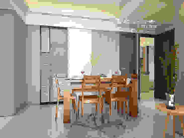 餐廳/木作/玻璃/拉門/超耐磨木地板 木博士團隊/動念室內設計制作 餐廳