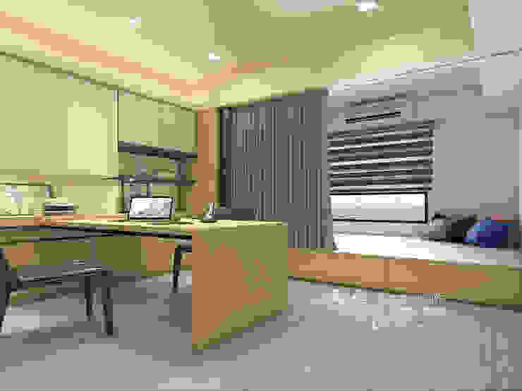 書房/客房/臥室/歐式系統傢俱 根據 木博士團隊/動念室內設計制作 現代風