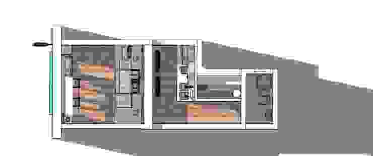 Vista aérea de Lagom Studio Moderno