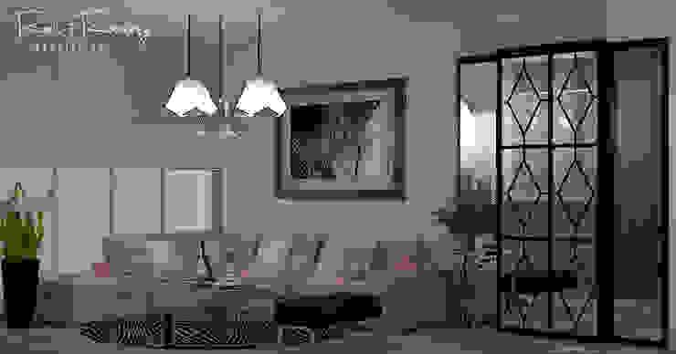 Estudio R&R Modern living room Pink