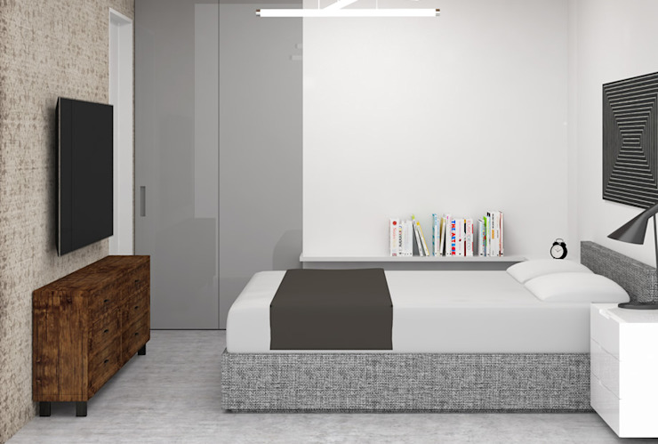 Moderne slaapkamers van Ezgi Yüce Mimarlık AŞ. Modern