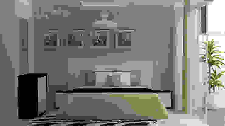 DISEÑO DE HABITACIÓN OPCION 1 Dormitorios de estilo minimalista de Estudio R&R Minimalista