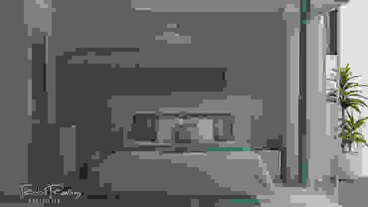DISEÑO DE HABITACIÓN OPCION 2 Dormitorios de estilo minimalista de Estudio R&R Minimalista