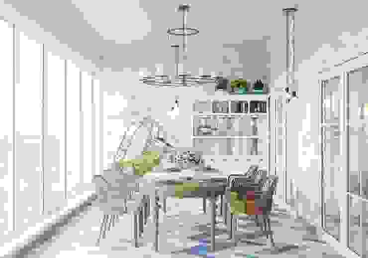 Balkon, Beranda & Teras Modern Oleh Дизайнер Modern