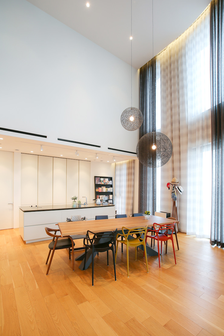 다빈710 Minimalist dining room White