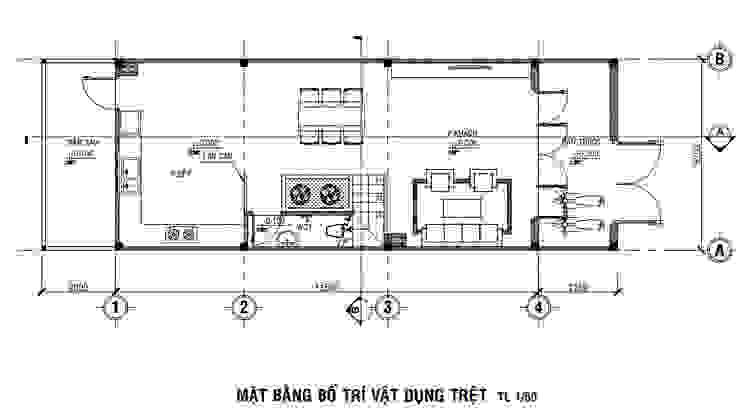 Nội Thất Nhà 3 Tầng Hiện Đại Ở Thủ Đức bởi Công ty Thiết Kế Xây Dựng Song Phát Hiện đại