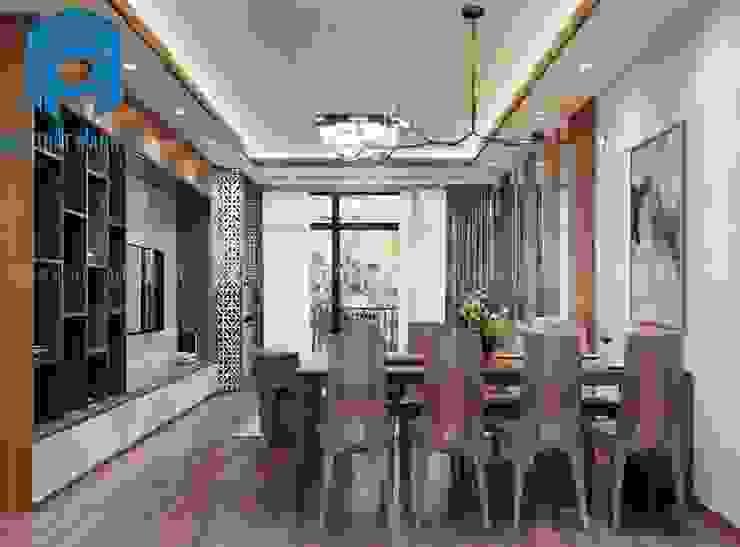 Không gian phòng khách và phòng bếp liền kề nhau bởi Công ty TNHH Nội Thất Mạnh Hệ Hiện đại