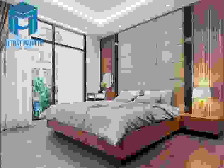 Phòng ngủ 1 với không gian khá rộng rãi và thoáng đãng Phòng ngủ phong cách hiện đại bởi Công ty TNHH Nội Thất Mạnh Hệ Hiện đại