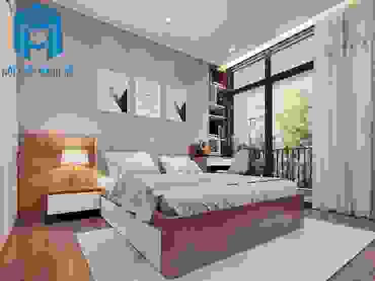 Nội thất phòng ngủ 2 được bố trí khá đơn giản Phòng ngủ phong cách hiện đại bởi Công ty TNHH Nội Thất Mạnh Hệ Hiện đại