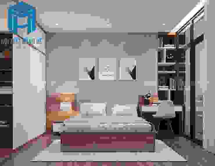 Phòng ngủ được trang trí thêm tranh treo tường Phòng ngủ phong cách hiện đại bởi Công ty TNHH Nội Thất Mạnh Hệ Hiện đại