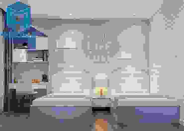 Phòng ngủ cho bé với gam màu chủ đạo là xanh da trời bởi Công ty TNHH Nội Thất Mạnh Hệ Hiện đại