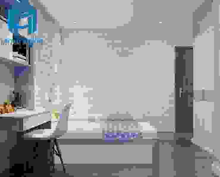 Nội thất phòng ngủ cho bé khá đơn giản và tinh tế bởi Công ty TNHH Nội Thất Mạnh Hệ Hiện đại