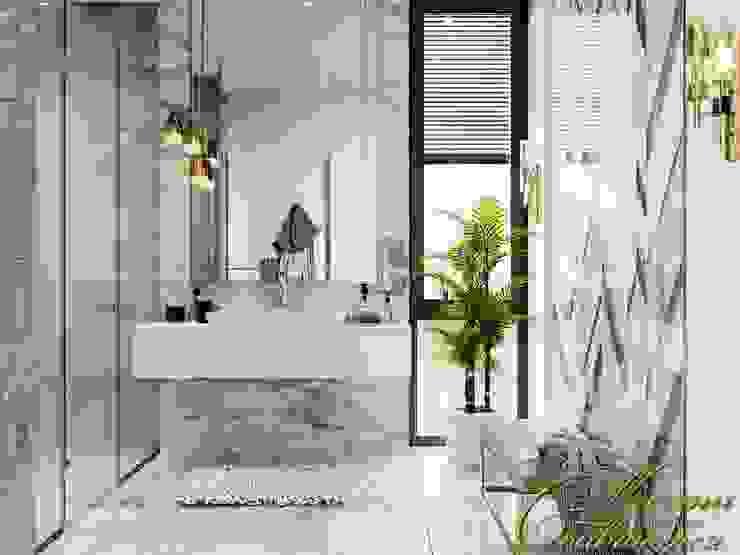 Eclectic style bathroom by Компания архитекторов Латышевых 'Мечты сбываются' Eclectic