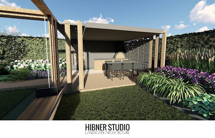 Balcones y terrazas modernos de Hibner Studio Moderno