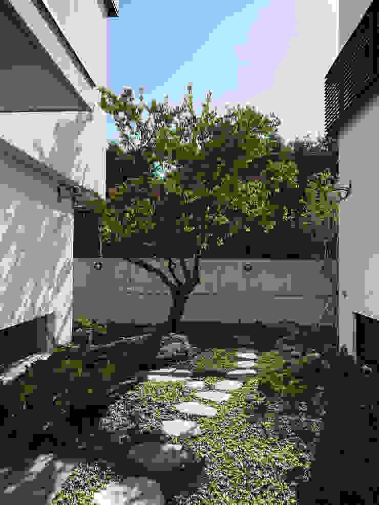 庭院與梅樹 根據 黃耀德建築師事務所 Adermark Design Studio 簡約風
