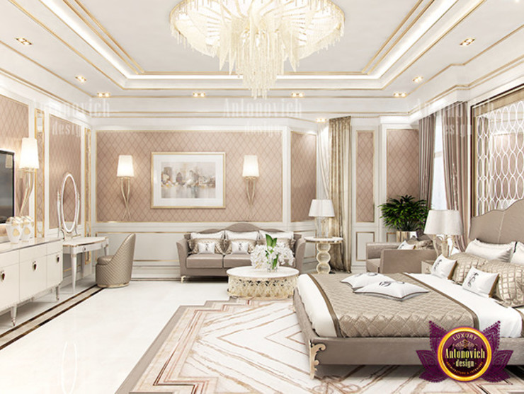 Posh Lady Bedroom by Luxury Antonovich Design
