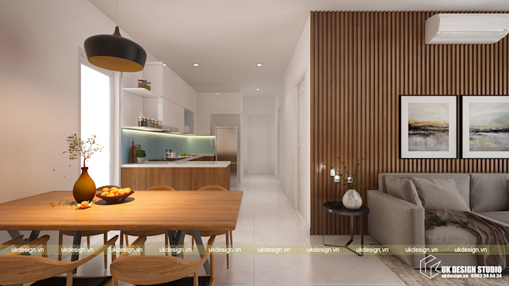 Thiết kế phòng ăn Phòng ăn phong cách hiện đại bởi UK DESIGN STUDIO - KIẾN TRÚC UK Hiện đại