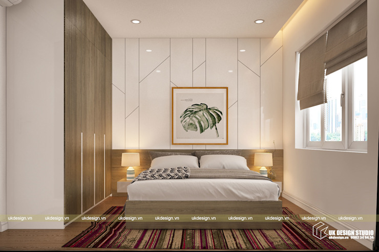 Kleines Schlafzimmer von UK DESIGN STUDIO - KIẾN TRÚC UK