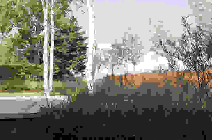 Minimalist garage/shed by Andredw van Egmond | designing garden and landscape Minimalist