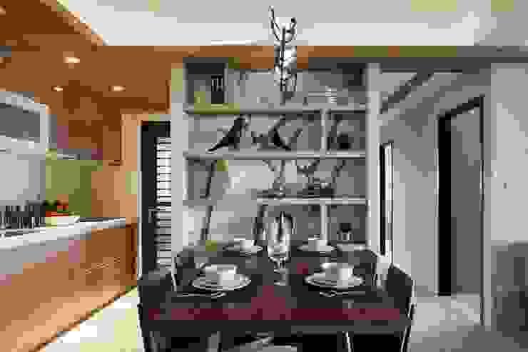 餐桌旁的置物空間 木皆空間設計 Modern Dining Room