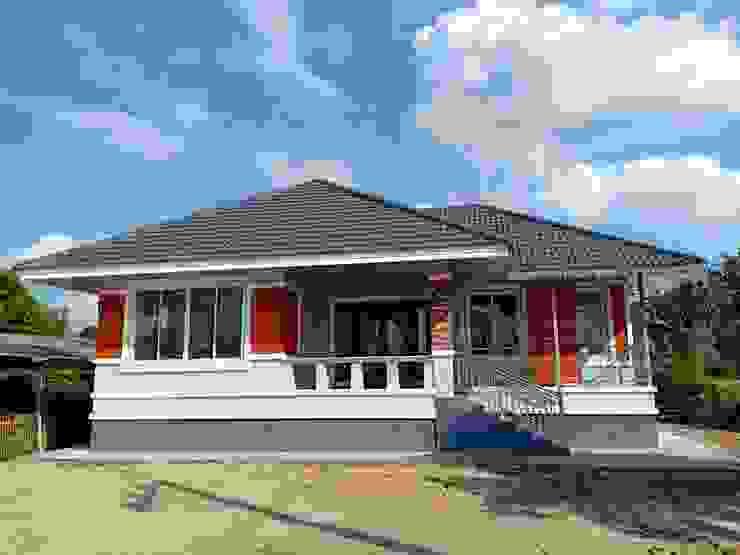 บ้านพักอาศัยชั้นเดียว ขนาด 3 ห้องนอน 2 ห้องน้ำ 1 รับแขก 1 ครัว พื้นที่รวม 105 ตรม. โดย แบบบ้านออกแบบบ้านเชียงใหม่
