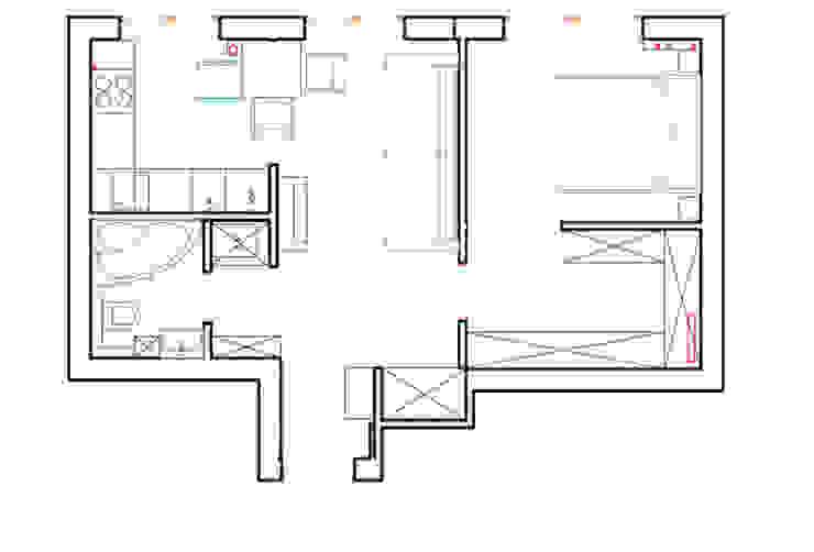 Однокомнатная квартира в которой есть всё:  в . Автор – дизайн-бюро ARTTUNDRA, Классический