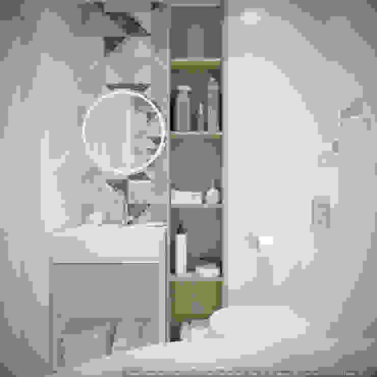 Однокомнатная квартира в которой есть всё Ванная в классическом стиле от дизайн-бюро ARTTUNDRA Классический