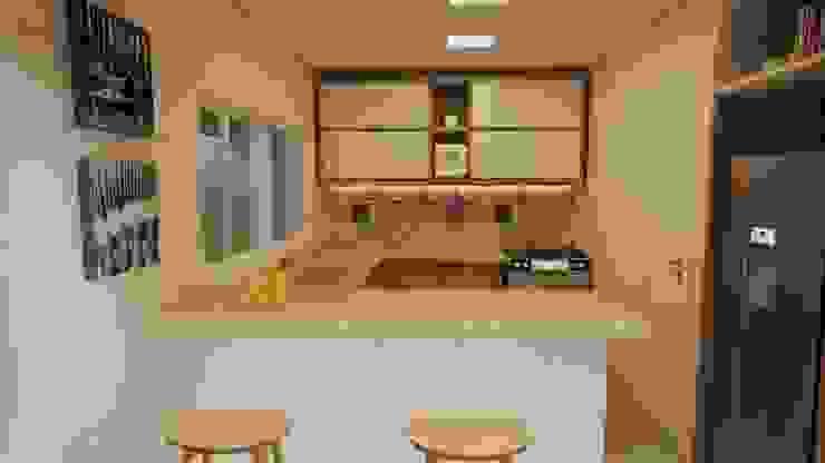 Gelker Ribeiro Arquitetura | Arquiteto Rio de Janeiro ห้องครัวขนาดเล็ก