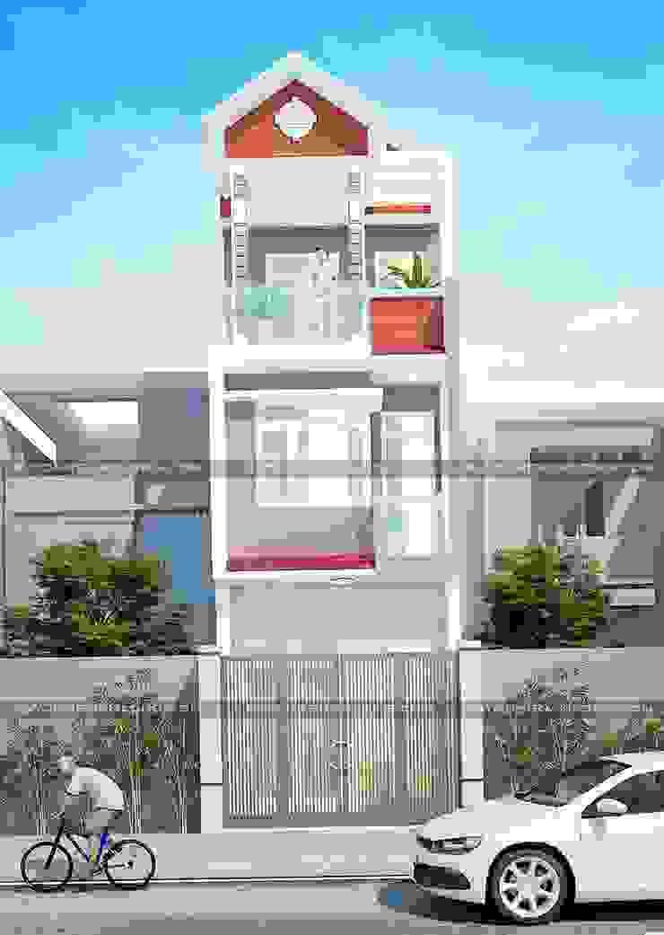 Nhà mặt tiền 4m đẹp bởi Công ty cổ phần tư vấn kiến trúc xây dựng Nam Long Hiện đại