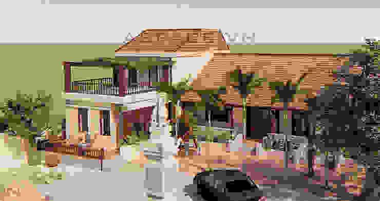 Biệt thự vườn kết hợp nhà thờ ở quận trung tâm Hà Nội bởi Kiến trúc ASPACE