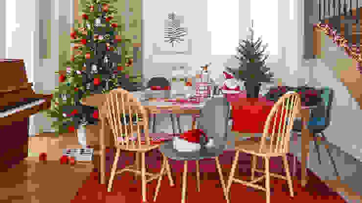 Comedor decorado con elementos de la tendencia Tradition homify ComedorAccesorios y decoración Rojo