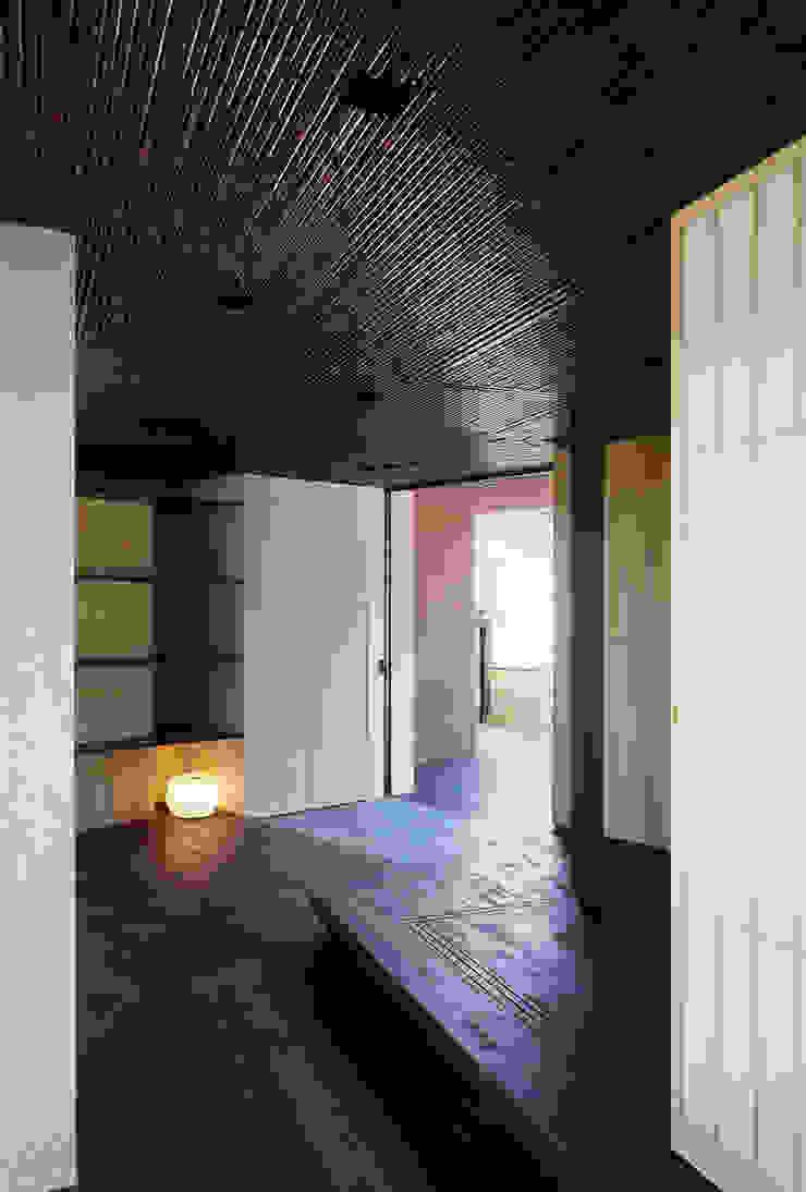 ホールから玄関を見る 和風の 玄関&廊下&階段 の 松岡淳建築設計事務所 和風