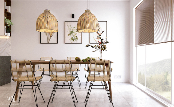 Scandinavian style dining room by Valido Architects Scandinavian