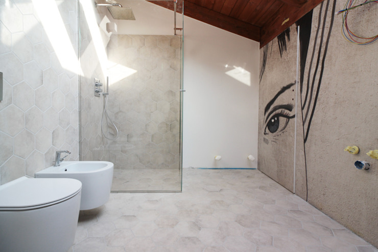 Flavia Benigni Architetto Baños de estilo moderno
